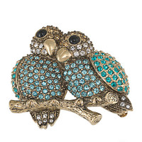 Carolee Lovebirds Pin