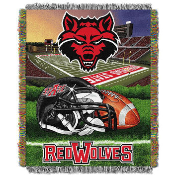 Arkansas State Red Wolves NCAA Woven Tapestry Throw (Home Filed Advantage) (48x60)
