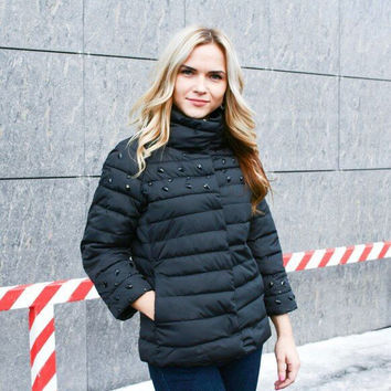 In the winter of 2016 new women's cotton padded jacket thin down collar high-end foreign trade [8434956365]