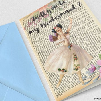 Will you be my bridesmaid card-funny bridesmaid card-bridesmaid card-maid of honor card-wedding card-by NATURA PICTA-NPGC115