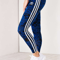 adidas Originals Blue Floral Legging - Urban Outfitters