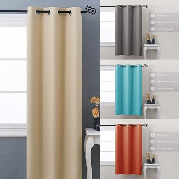 Home Decor Grommet Top Thermal Insulated Living Room Curtains