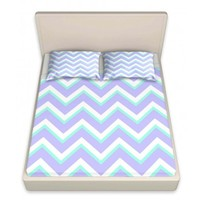 DiaNoche Designs Artistic Decorative Designer Unique Bed Sheets | Monika Strigel's Purple Mint Layer I