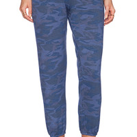 MONROW Camo Vintage Sweatpants in Blue