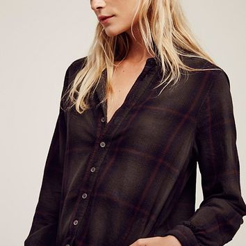 Free People Flannel Tunic Plaid
