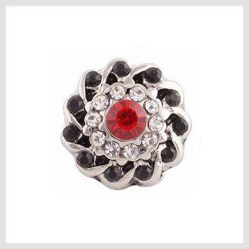 Red and Clear Crystals 12mm Mini