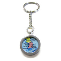 South Korea Map Keychain
