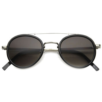Retro Vintage Dapper Round Aviator Sunglasses 9921