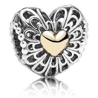 Pandora Silver Vintage Heart Charm Gift Set, Limited Edition