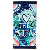 I Heart The Sea Beach Towel