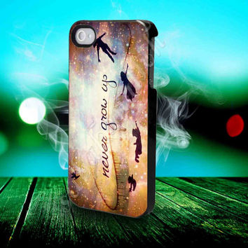 Peter Pan Quote - for iPhone 4/4s, iPhone 5/5S/5C, Samsung S3 i9300, Samsung S4 i9500 Hard Case