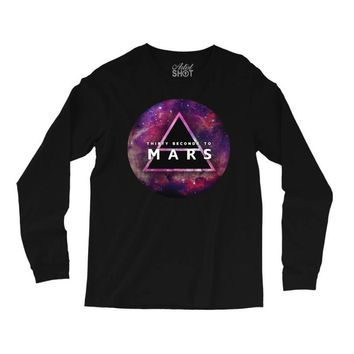 30 seconds to mars  galaxy design Long Sleeve Shirts