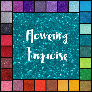 FLOWERING TURQUOISE BLUE Polyester Pearlescent Ultra Fine Glitter | 1oz - 2oz - 4oz - 8oz | glitter dipped | nail art | nail polish