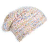 Multi Pastel Eyelash Beanie - View All - Sale & Offers