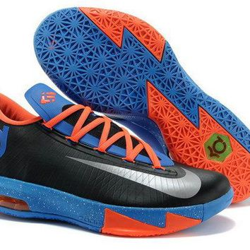 Original Kd 6 Nike OKC Away Black Photo Blue Orange Brand sneaker