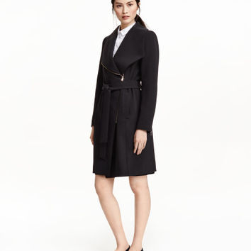 Coat with Shawl Collar - from H&M
