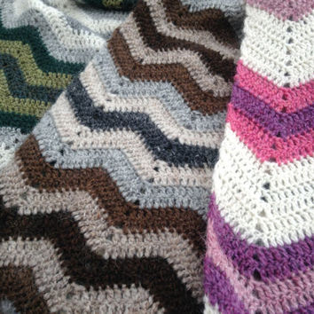 Crochet baby blanket, warm handmade, great for stroller, from Icelandic wool, made to order