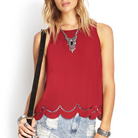 Scalloped Laser Cut Tank