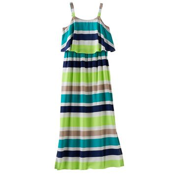 My Michelle Striped Maxi Dress - Girls