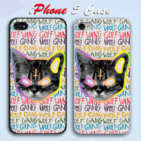 OFWGKTA Golf Wang Wolf Gang ODD FUTURE  Custom iPhone 5 Case Cover