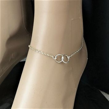 Double Silver Ring Anklet