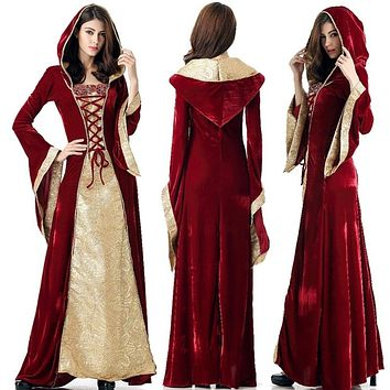 Womens Celtic Renaissance Medieval Cotton Costume Pirate / Peasant Wench - Free Shipping