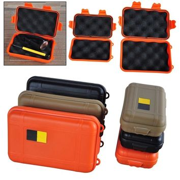 Portable Outdoor Waterproof Shockproof Airtight Survival Tool Storage Case Container Anti pressure Carry Box Large/Small Size