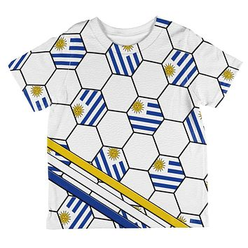 World Cup Uruguay Soccer Ball All Over Toddler T Shirt