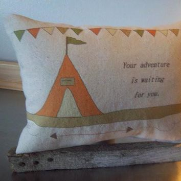 Adventure nursery pillow kids birthday gift cotton throw pillow