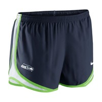 Nike Seattle Seahawks Women's Navy Blue Dri-FIT Tempo Shorts