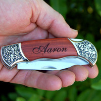 Valentines Day Gifts for Him, Personalized Pocket Knife for Men - Custom Engraved Valentines Gift, Pocket Knife