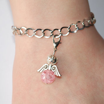 Chain bracelet with Angel charm