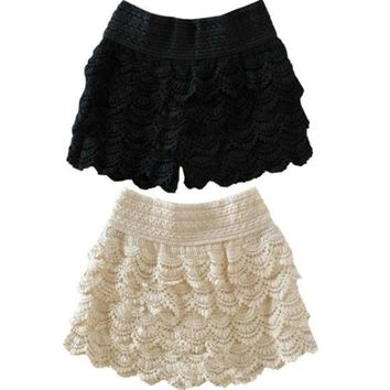 womens pants skirts dress lace shorts cute crochet 050