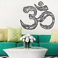 Wall Decals Om Symbol Housewares Wall Vinyl Decal Buddha Sacred Indian Design Art Mural Interior Decor Sticker Buddhism Divine Buddhist Sign C448