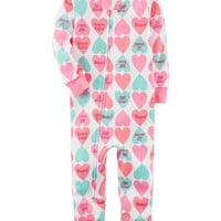1-Piece Neon Snug Fit Cotton Footless PJs