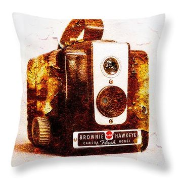"Rusty Brownie - Square Throw Pillow 14"" x 14"""
