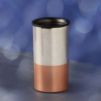 Stainless Steel Diamond Pattern Tumbler, 8 fl oz