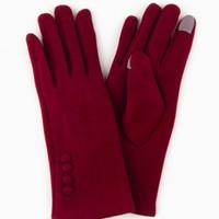 NINA TEXT TOUCH GLOVES IN WINE
