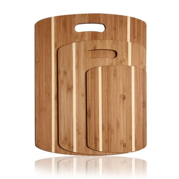 Oval Double-Striped Cutting Board (Set of 3)