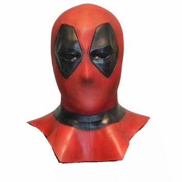 Deadpool Dead pool Taco  Mask Cosplay Costume  2 Full Head Adult Latex Masks Handmade Movie Props Halloween Mask Fancy Party Toys AT_70_6