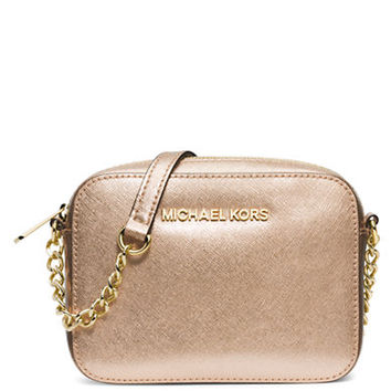 Michael Michael Kors Jet Set Metallic Leather Travel Crossbody Bag