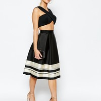 Ted Baker Full Skirt Stripe Border at asos.com