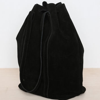 Slouchy Suede Bucket Bag