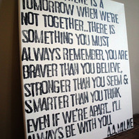 Always Remember - A.A. Milne Quote on Canvas