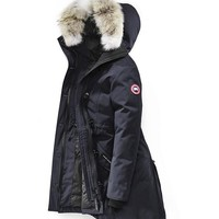 Canada goose rossclair winter WOMEN Down jacket/Navy blue