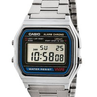 a158wcas - A158WA-1 Casio Silver & Black Digital Watch