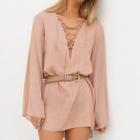 Buy Pine Dress - Burnt Nude Online by SABO SKIRT