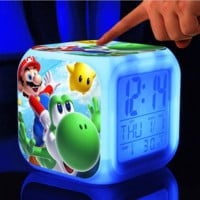 Super Mario Bros LED 7 Colors Change Digital Colorful Glowing Toy