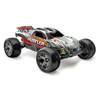Traxxas 37076-3 Rustler VXL 1/10 Scale Brushless 2WD Stadium Truck with TQi 2.4GHz Radio, Silver