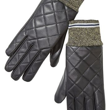 SCOTCH & SODA | Quilted Leather Gloves - Black
